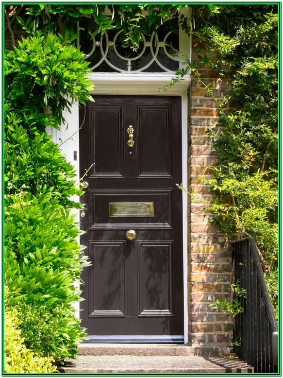 Black Exterior Door Paint Colors