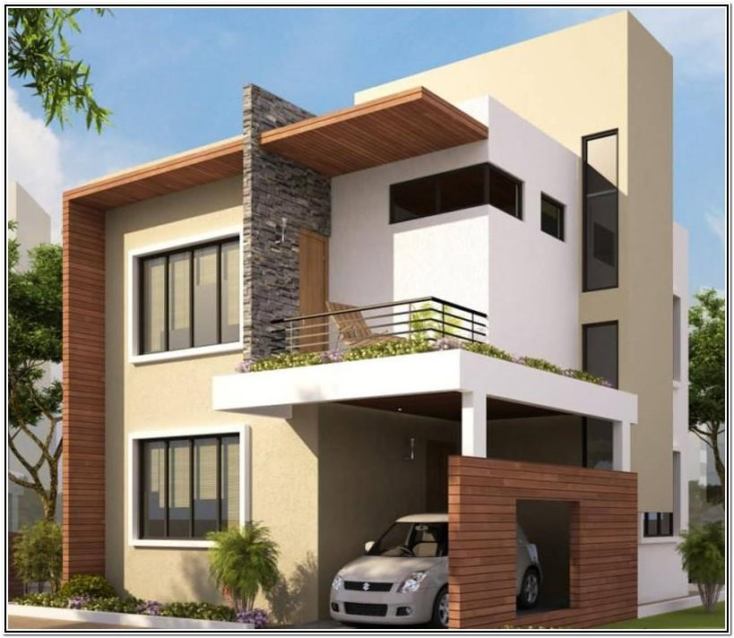 Exterior Color Combinations For Small Houses In India