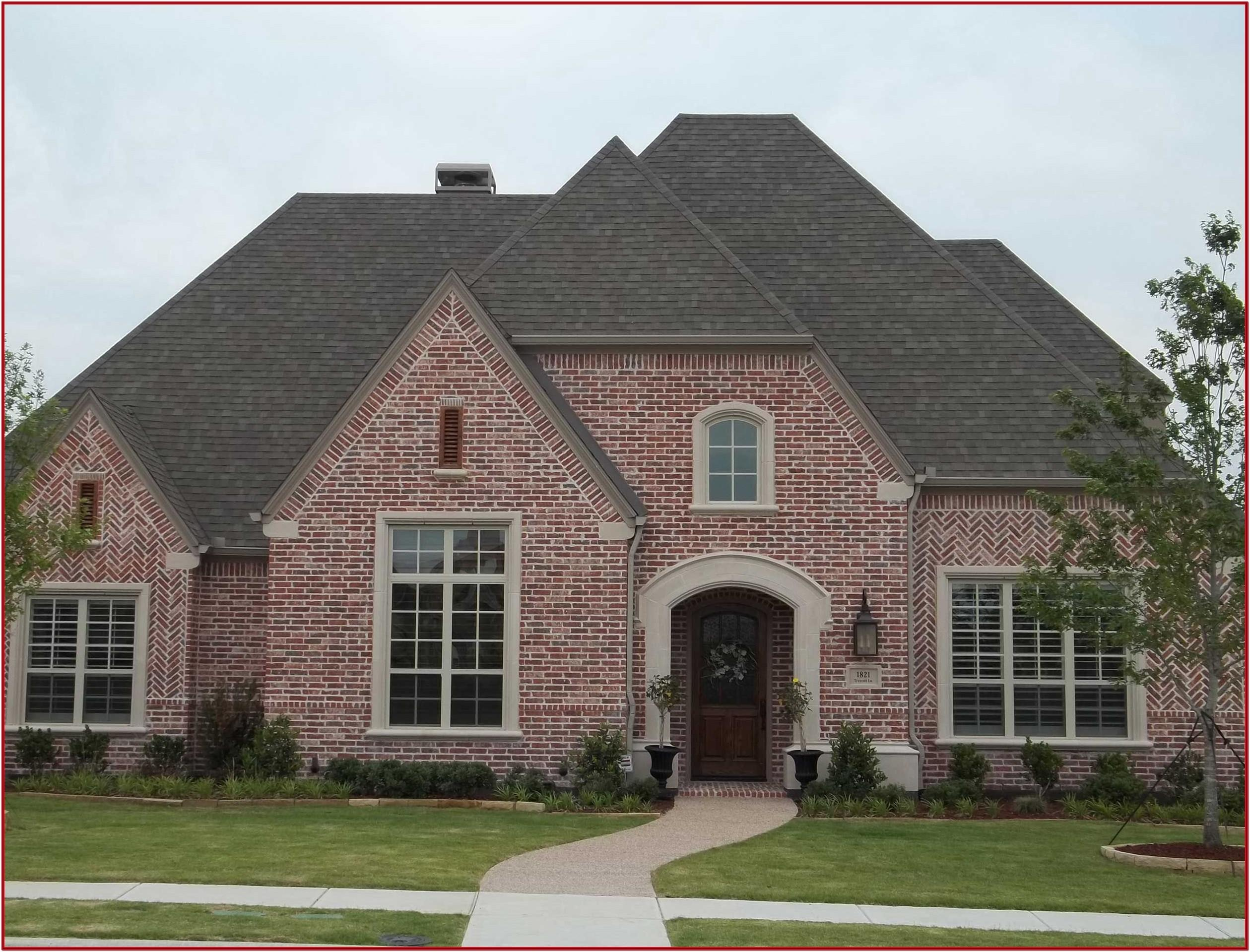 exterior color schemes for brick homes
