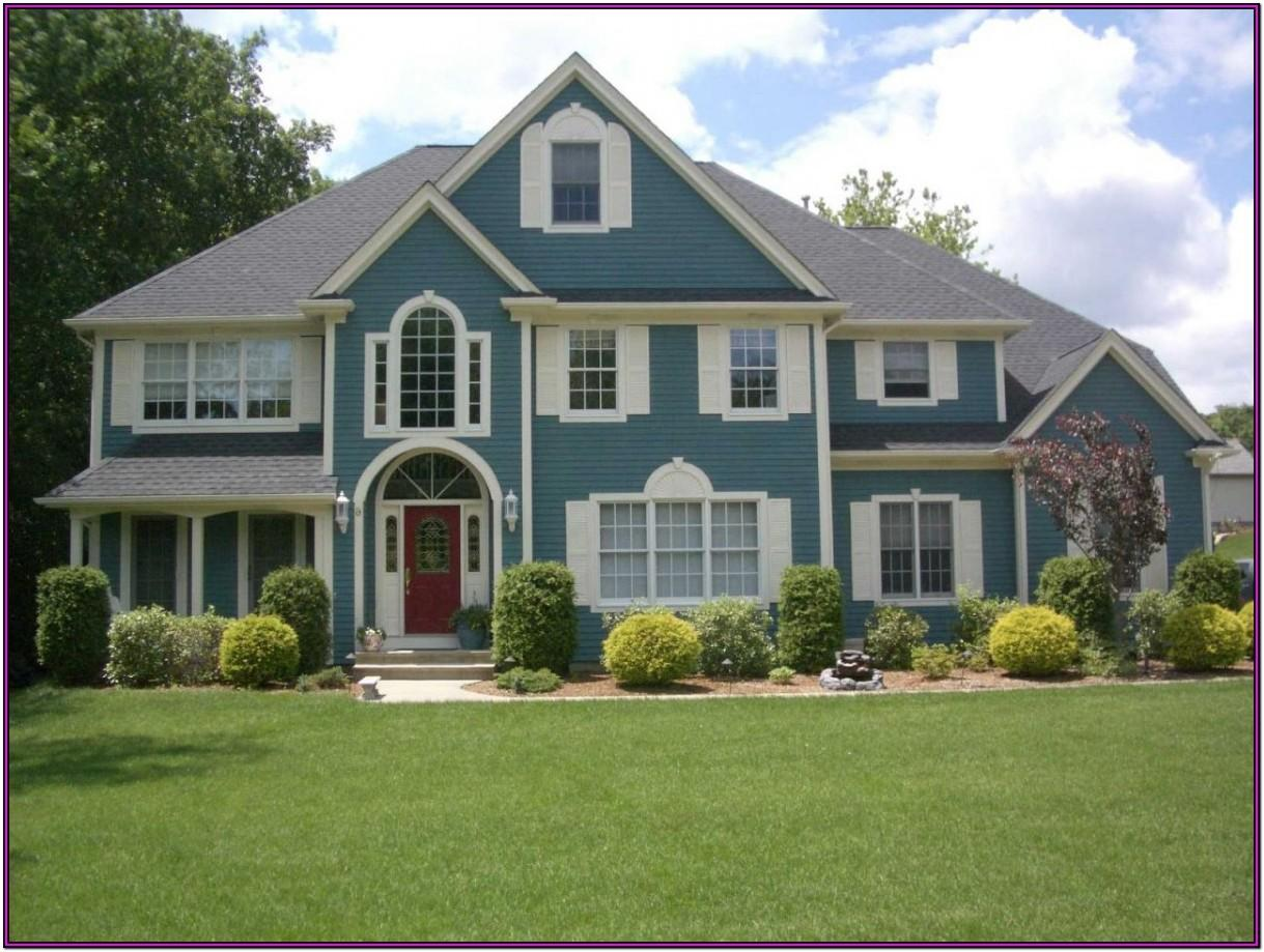 exterior color schemes for brick houses
