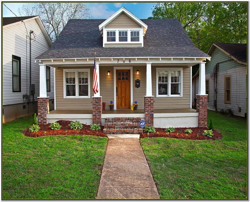 exterior house color schemes with red brick