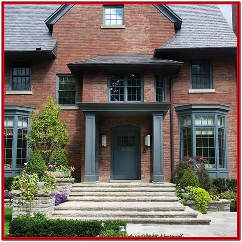 Exterior House Paint Colors That Compliment Red Brick