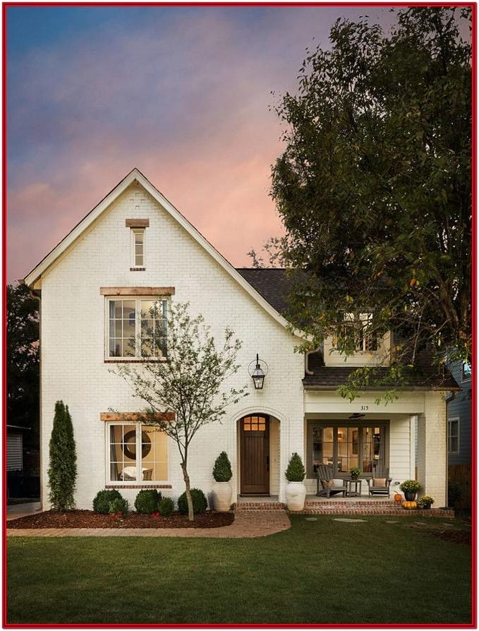Exterior Paint Colors For White Brick House