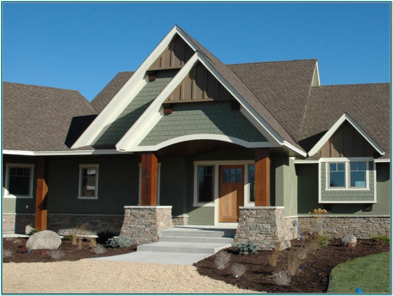 Green And Brown Exterior Paint Schemes