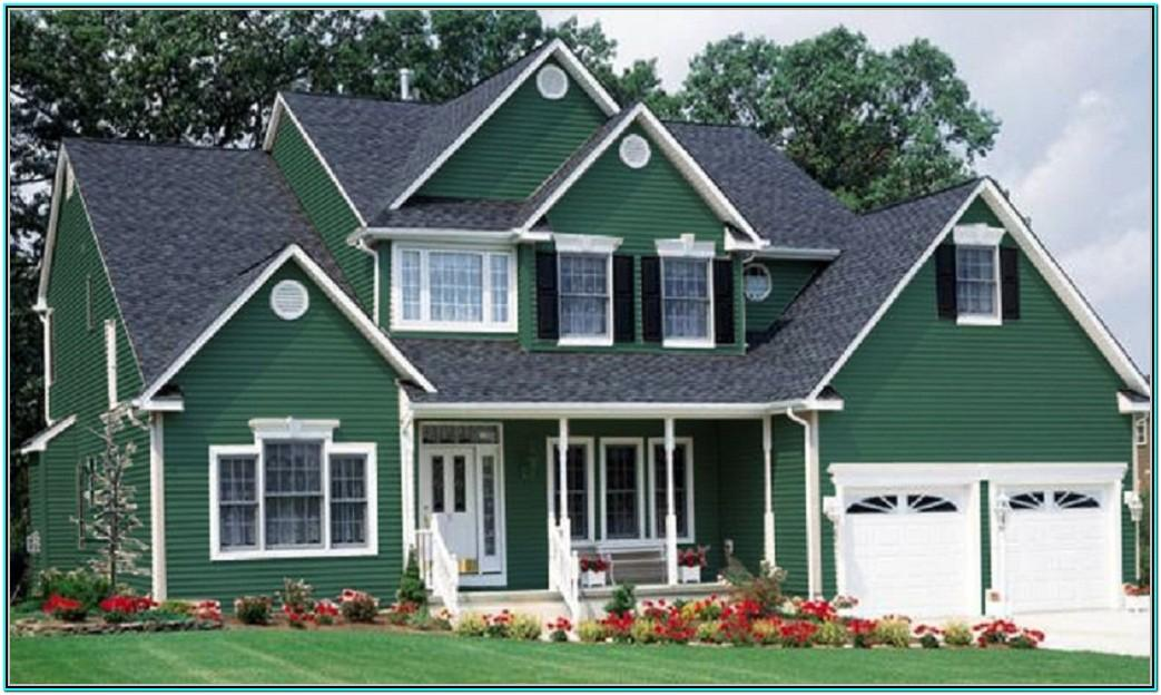 green exterior paint colors