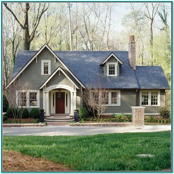 grey green exterior paint colors