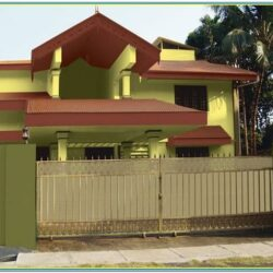 Indian House Exterior Colour Combination 1