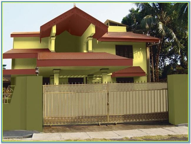 Indian House Exterior Colour Combination