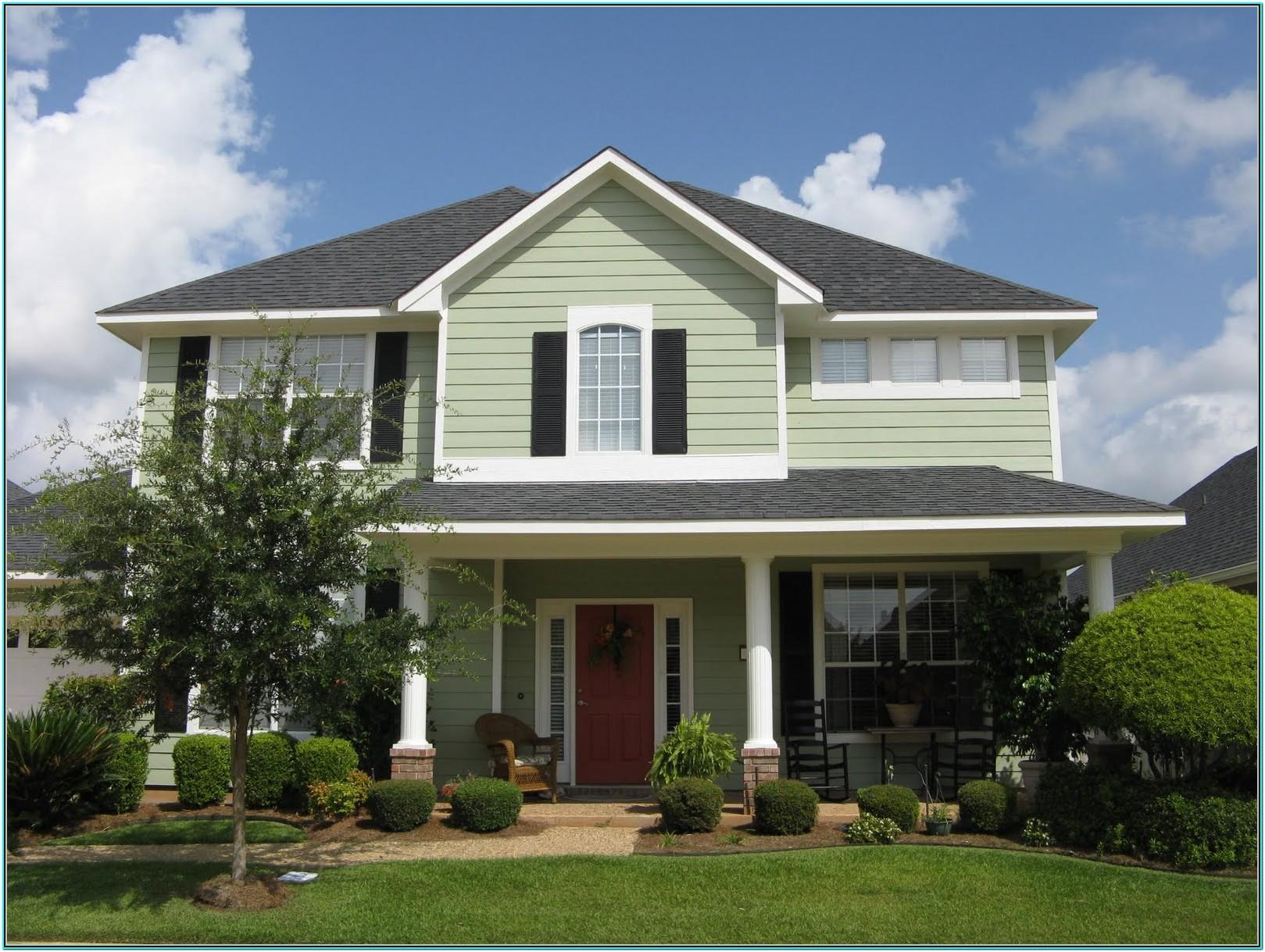 most popular green exterior paint colors