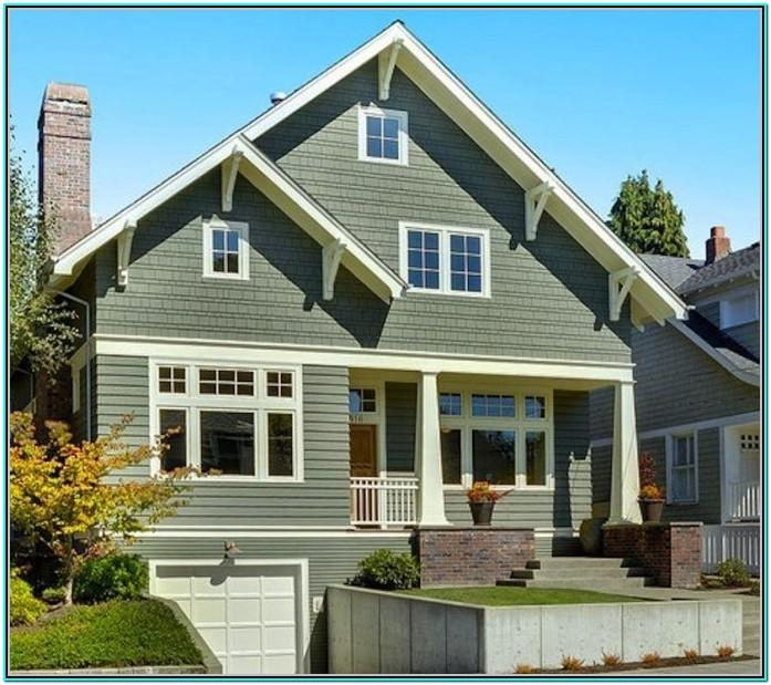 Sage Green Green Exterior House Paint Colors