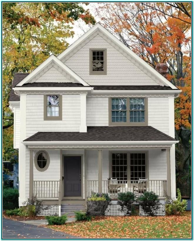 White Exterior House Color Schemes