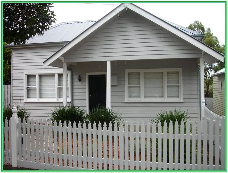 White Weatherboard House Colour Schemes
