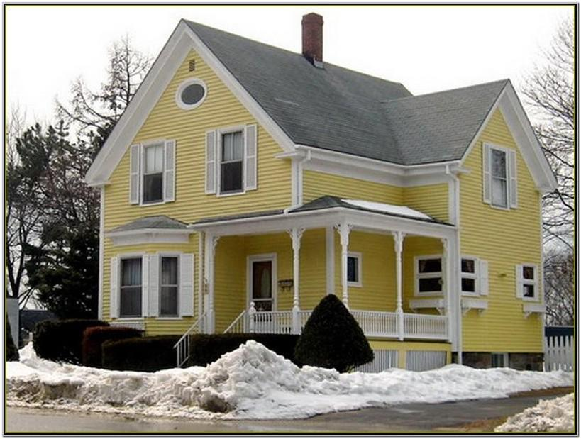Yellow Colour Combination For House Exterior Painting