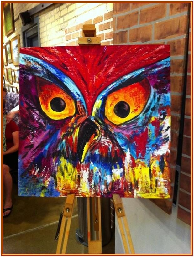 Abstract Canvas Painting Ideas For Beginners