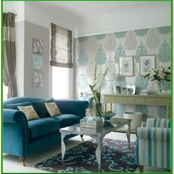 Aqua Blue Living Room Accessories