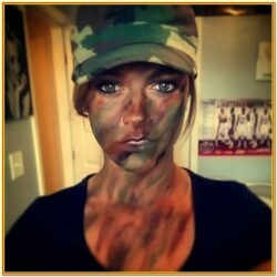 Army Camo Face Paint Ideas