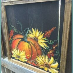 Autumn Window Painting Ideas