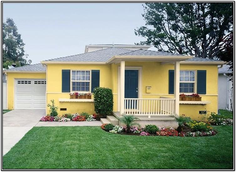 best creamy yellow exterior paint color