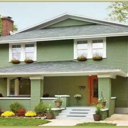 Best Green Exterior House Paint Colors