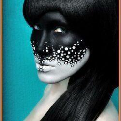 Black And White Face Painting Ideas