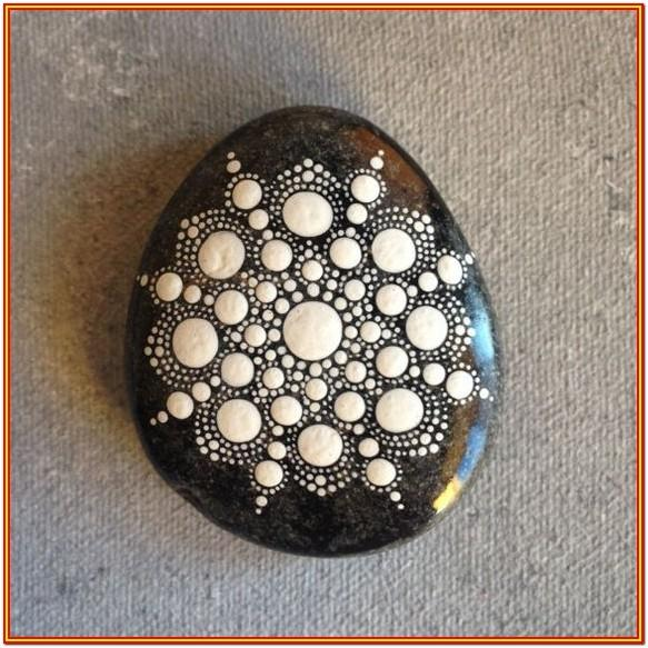 Black And White Rock Painting Ideas