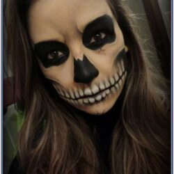 Black Face Paint Halloween Ideas