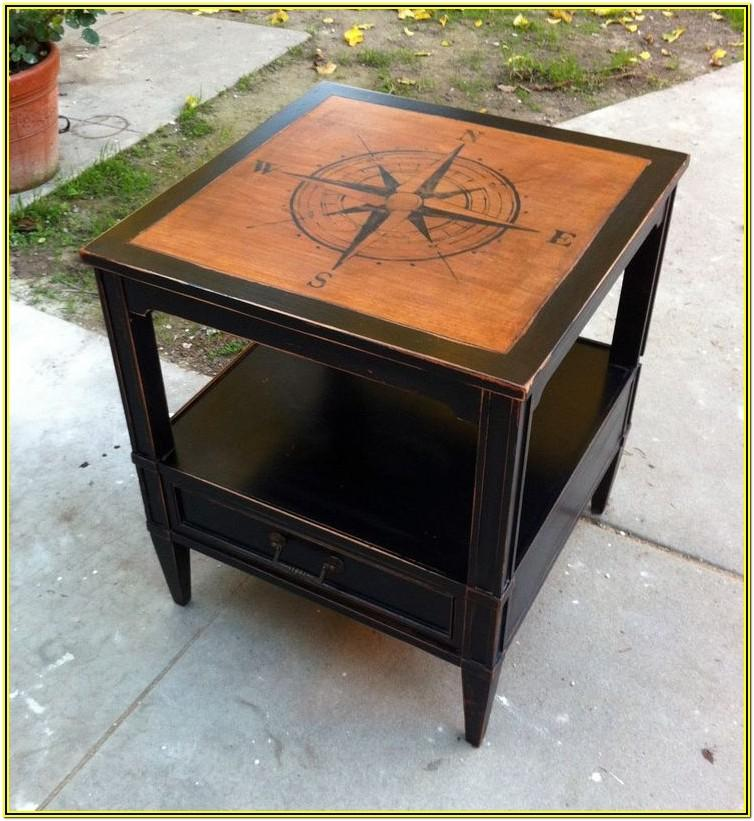 Black Painted Coffee Table Ideas