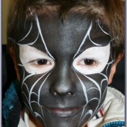 Black Spiderman Face Paint Ideas