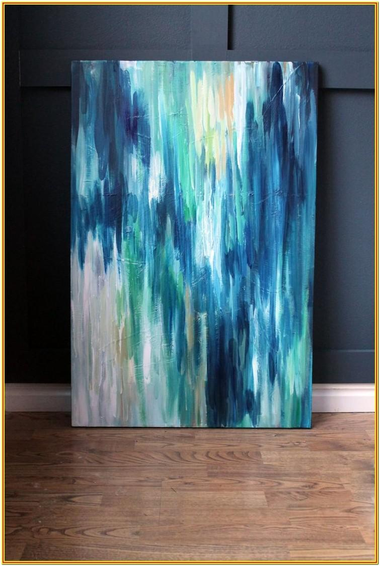 Blue Abstract Painting Ideas