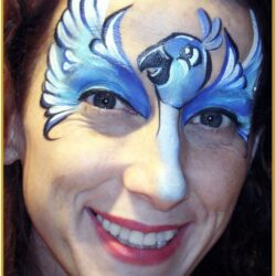 Blue Face Painting Ideas