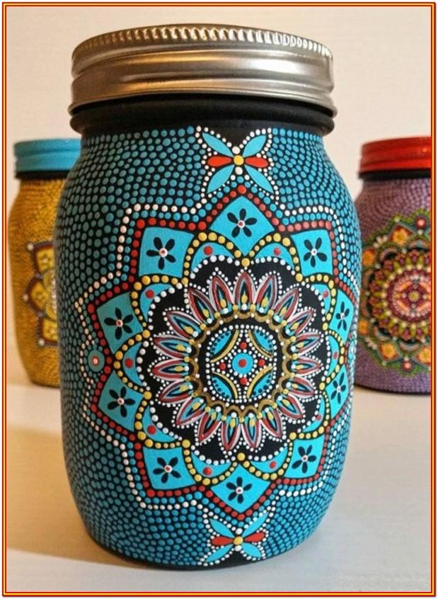 bottle painting ideas for beginners