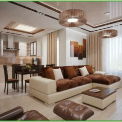 Brown And White Living Room Decor