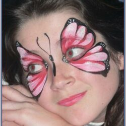 Butterfly Face Painting Design