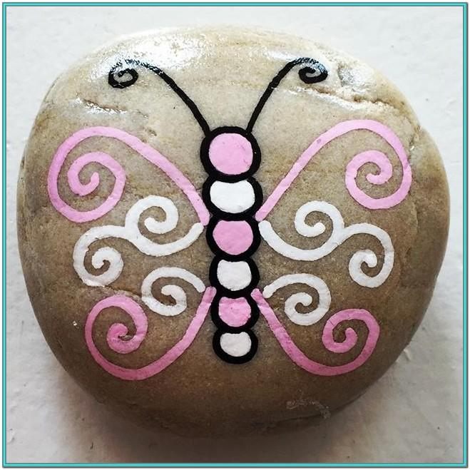 butterfly rock painting ideas