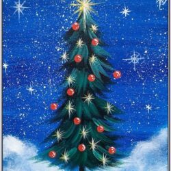 Christmas Tree Canvas Painting Ideas