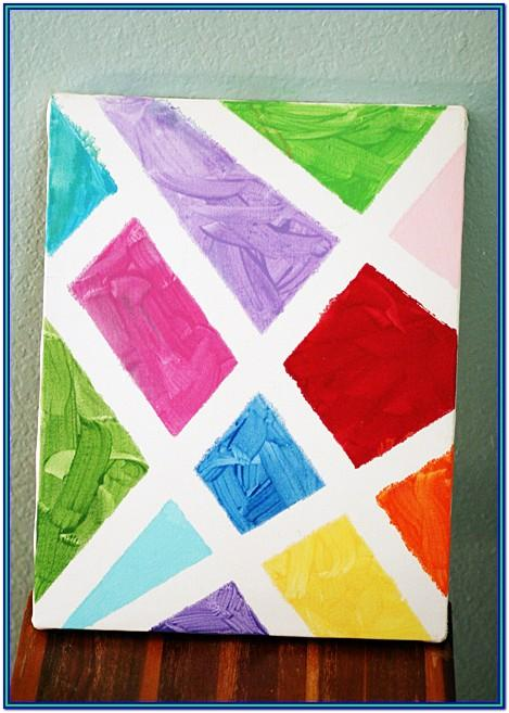 Cool Painting Ideas With Tape