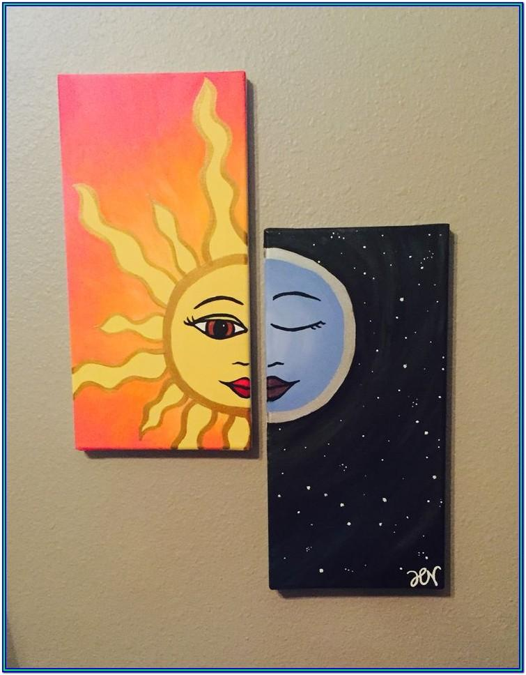 Cute Painting Ideas For Couples