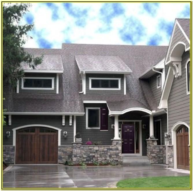 dark grey exterior paint colors