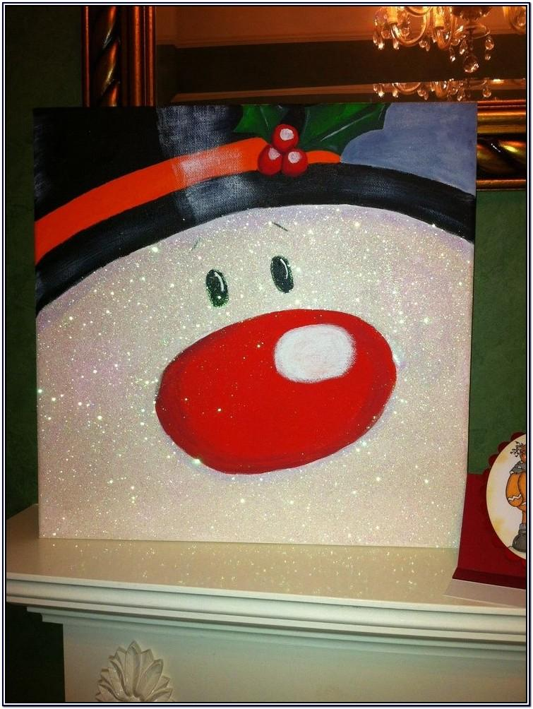 Diy Christmas Canvas Painting Ideas
