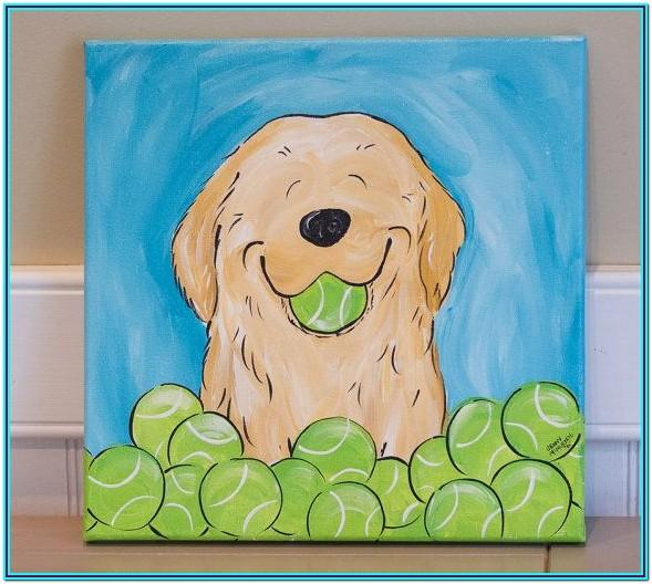 Dog Painting Ideas Easy