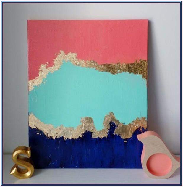 Easy Acrylic Painting Ideas For Beginners On Canvas Abstract