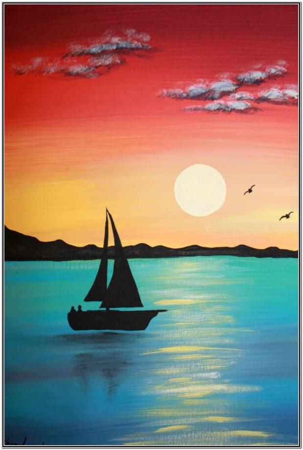 Easy Acrylic Painting Ideas For Beginners On Canvas Step By Step