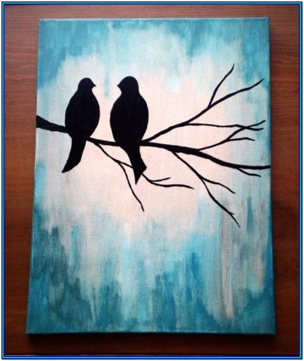 Easy Acrylic Painting Ideas Step By Step