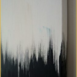 Easy Black And White Canvas Painting Ideas