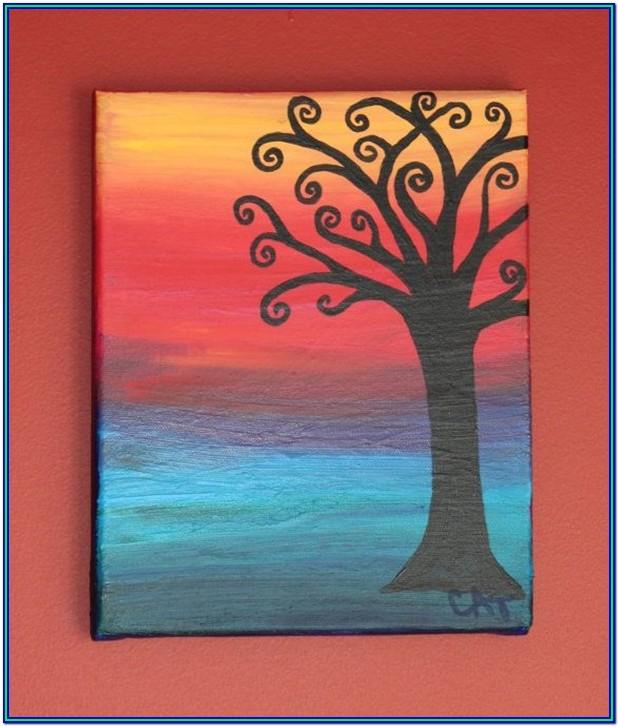 Easy Canvas Painting Ideas Step By Step