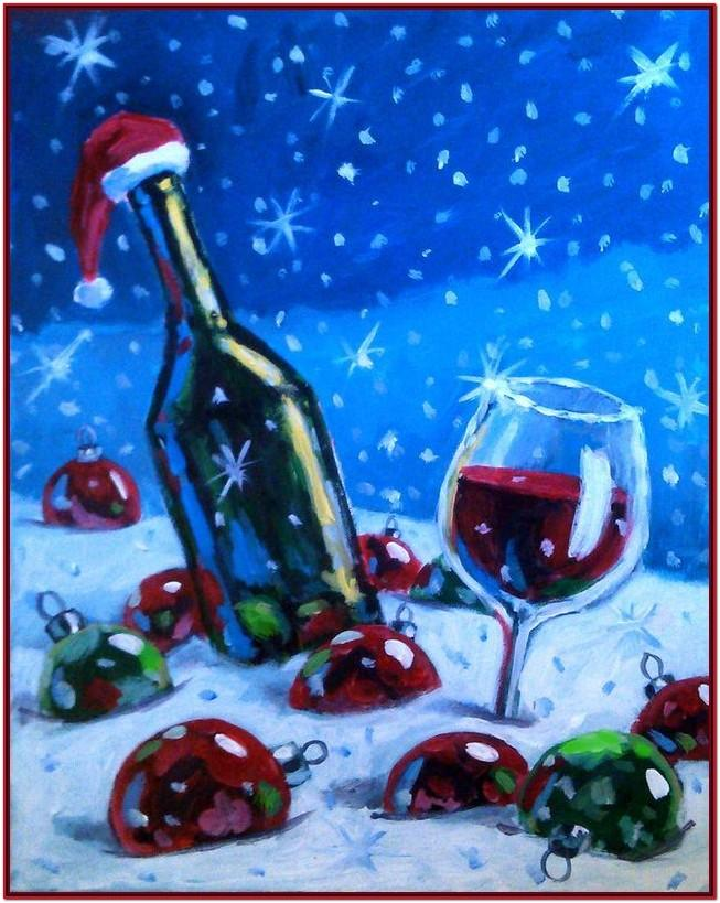Easy Christmas Paint Night Ideas