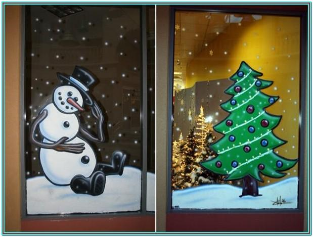 Easy Christmas Window Painting Ideas