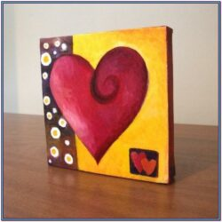 Easy Heart Painting Ideas