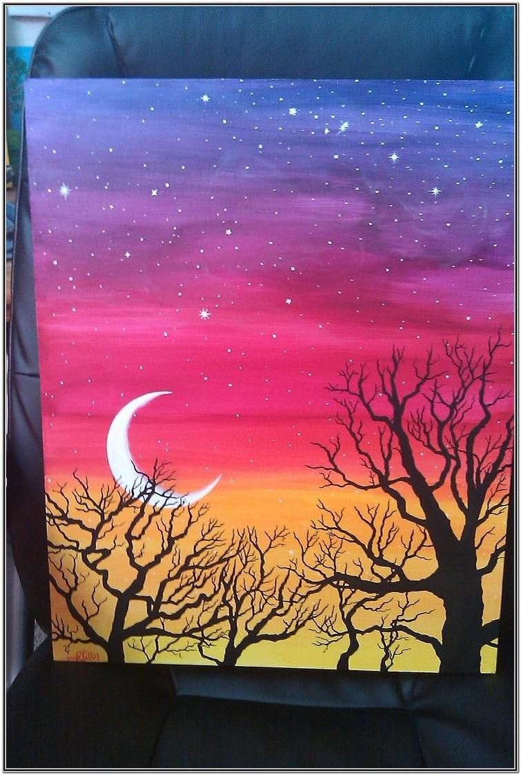 Easy Painting Ideas For Beginners Step By Step