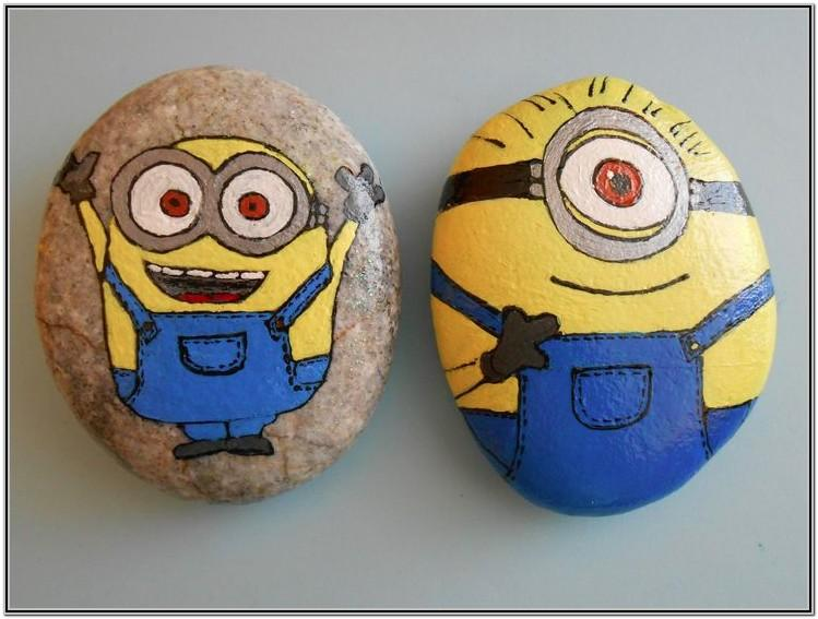 Easy Rock Painting Ideas Minion